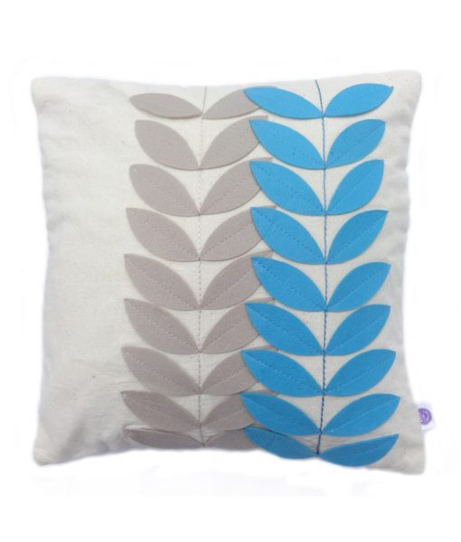 blue_leaves_cushioncover_front