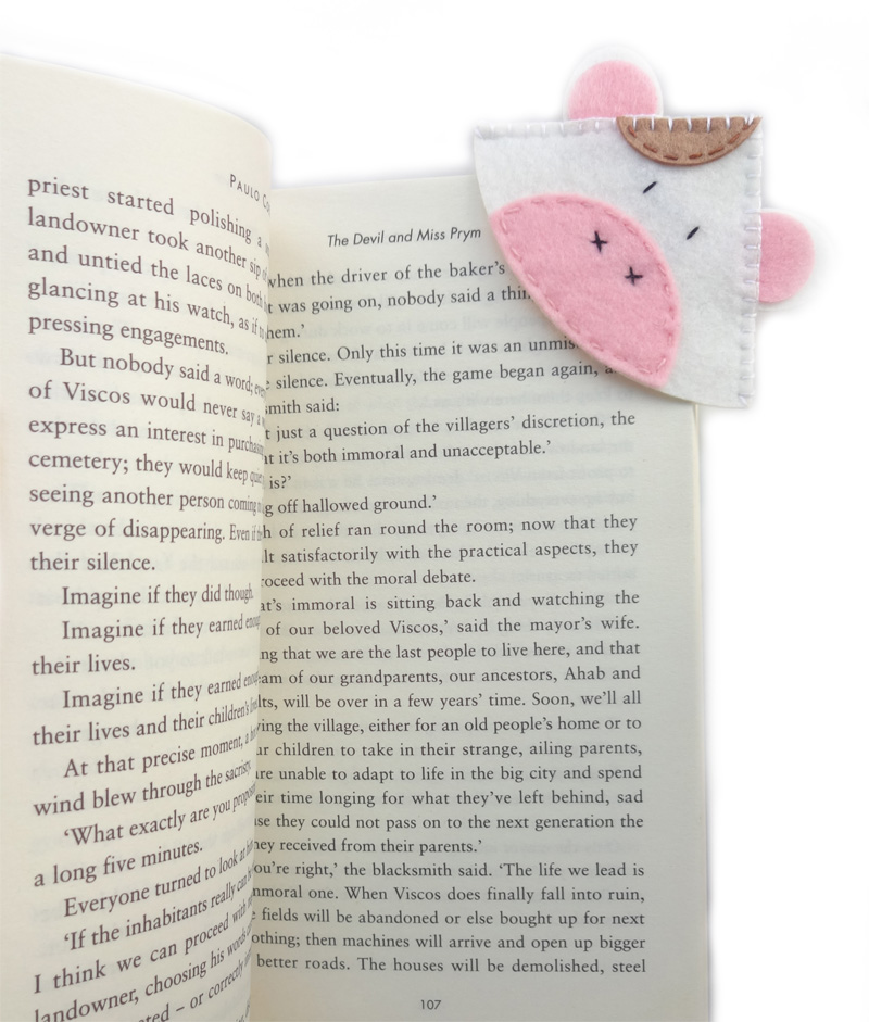 cow corner bookmarks cow corner bookmark felt 1367