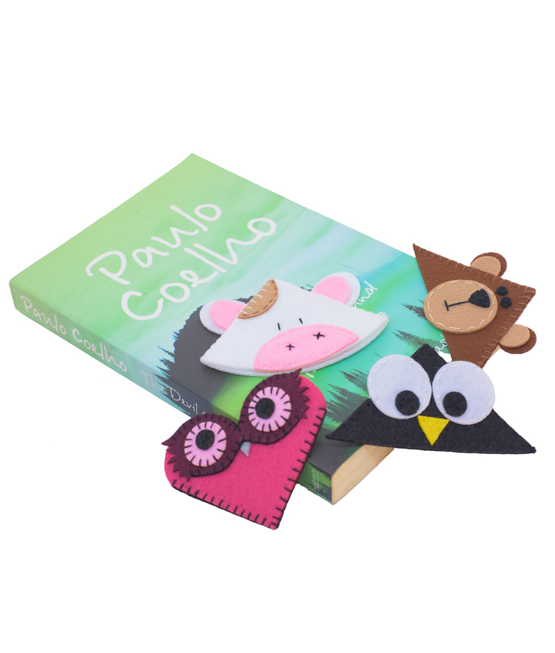 cow corner bookmarks animal corner bookmarks combo felt 1367