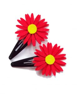 red_daisy_hairclip